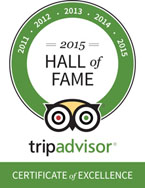 Trip Advisor Hall of Fame Certificate