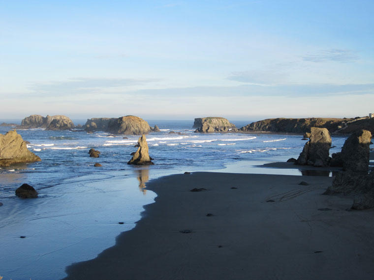View of Bandon beaches looking north